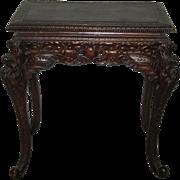 Antique Japanese Art Nouveau  Wood Table