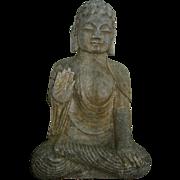 Chinese Gray Stone Seated Buddha