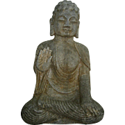 Chinese Gray Stone Seated Buddha