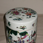 Chinese Porcelain Famille Rose Enameled Covered Jar