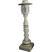 Chinese Carved White Marble Electrified Lantern