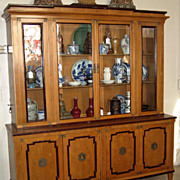 Old Large Maple Wood Display Cabinet