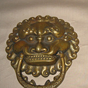 Chinese Bronze Lion Mask Door Knocker