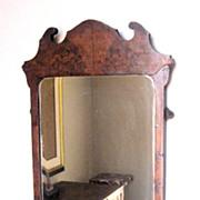 Antique George II Walnut Burl Mirror