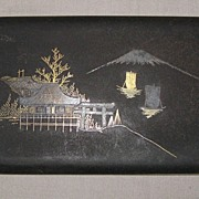 Superb Early 20th C. Japanese Damascene Cigarette Case