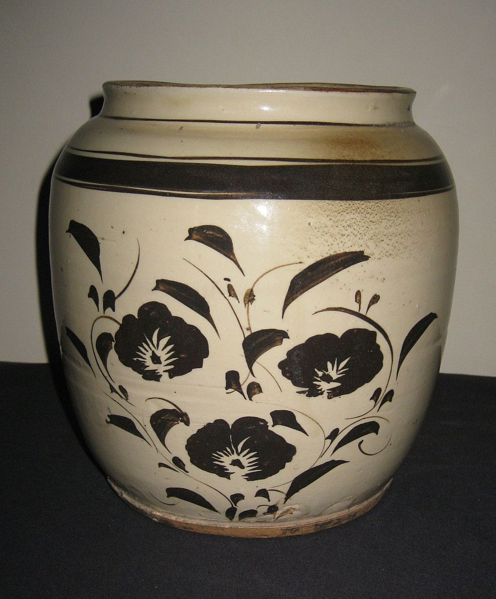 19th C. Chinese Pottery Cizhou Glazed Jar