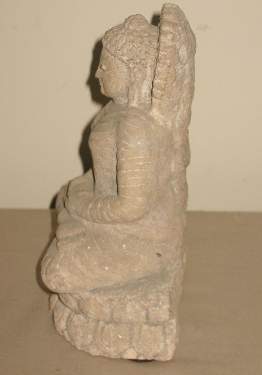 Chinese small carved stone buddha from dynastycollections
