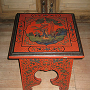 Chinese Red Lacquer Stool
