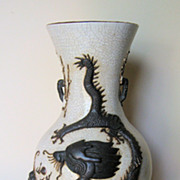 Chinese Crackle-Glaze Dragon Vase