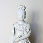 Chinese Early 20th C. Blanc de Chine Porcelain Guanyin