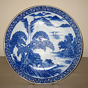 19th C. Chinese Blue & White Porcelain Plate