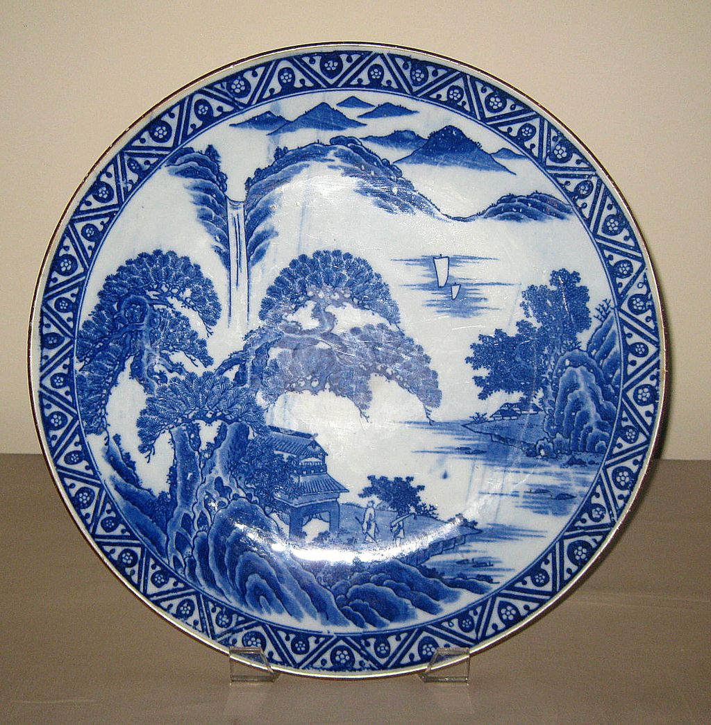 19th C. Chinese Blue u0026 White Porcelain Plate  Dynasty Collections u0026 Antiques | Ruby Lane & 19th C. Chinese Blue u0026 White Porcelain Plate : Dynasty Collections ...