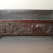 Large Japanese Bronze Suiban with Dragons