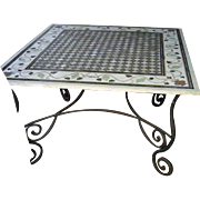Beautiful Inlaid Square Marble Garden Table