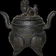 Small Chinese Bronze Tripod Censor Small Chinese Bronze Tripod Censor