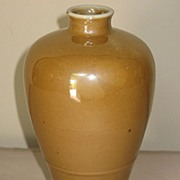 19th C. Café Au Lait Monochrome Glazed Meiping Vase