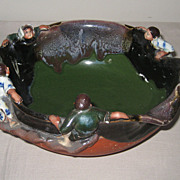 Japanese Sumida-gawa Pottery Bowl by Inoue Ryosai