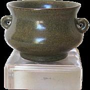 Antique Chinese Tea Dust Glaze Brushwasher