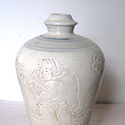Chinese Glazed Pottery Meiping Vase