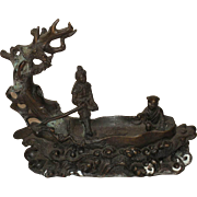 Chinses Small Bronze Boat with Figures
