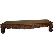 Large Antique Asian Carved Low Retangular Table