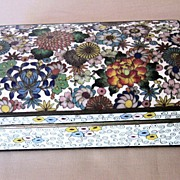 Beautiful Polychrome Japanese Cloisonné Box