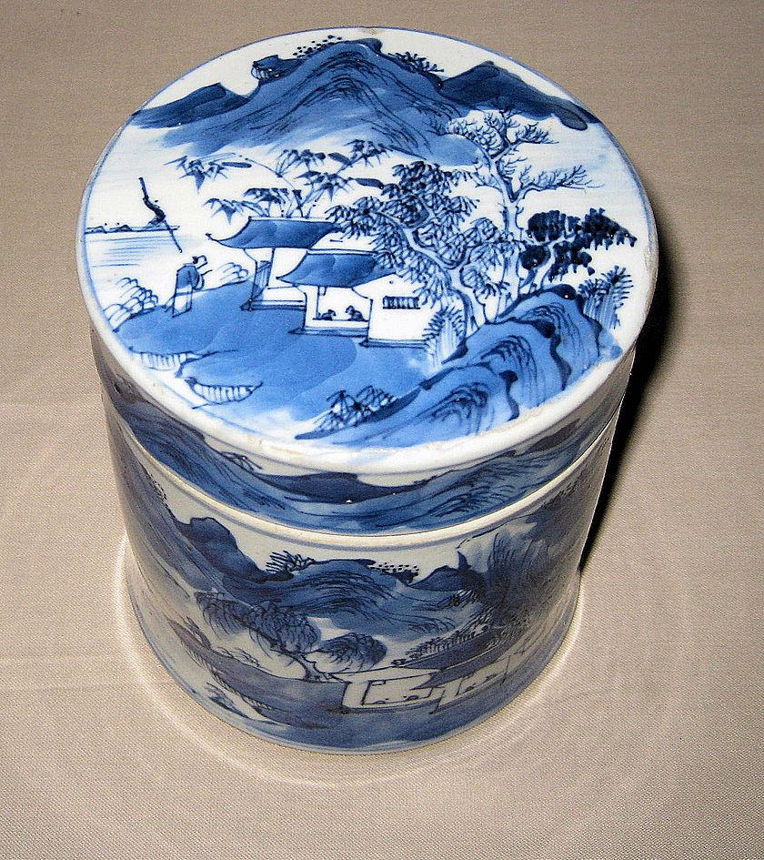 19th C. Chinese Porcelain Blue and White Covered Jar