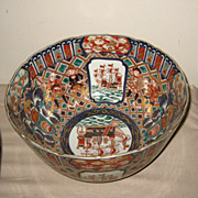 Set of Two Large Japanese Imari Bowls
