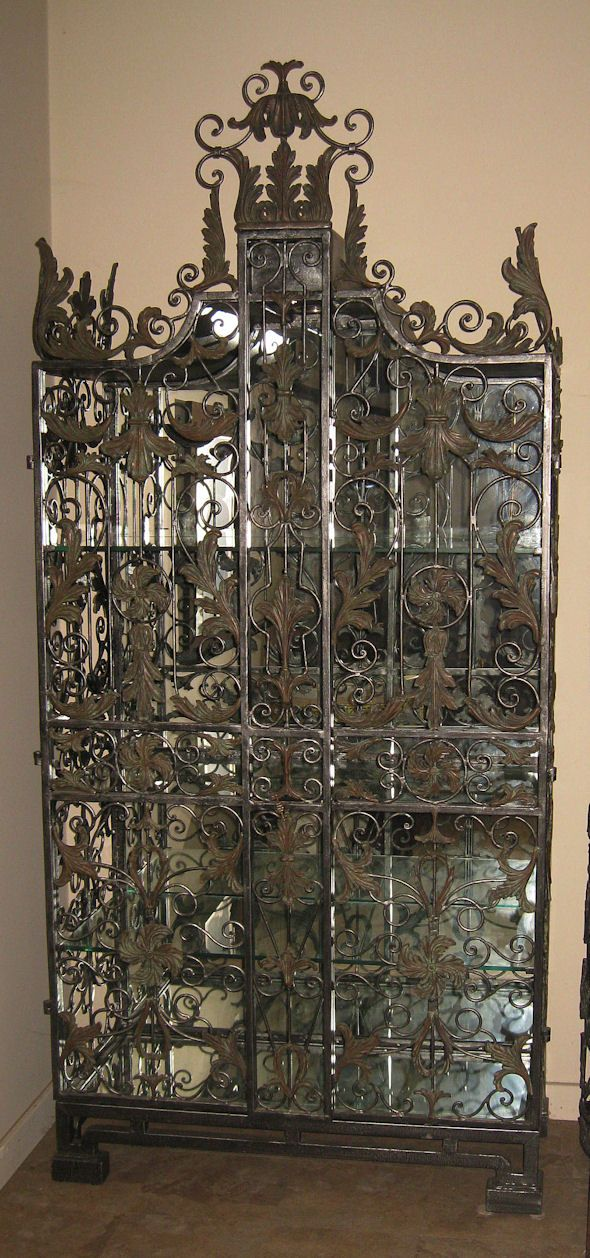 Maitland-Smith Iron Wine Cabinet