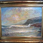 Oil Painting of a Seascape by James Arthur Merriam