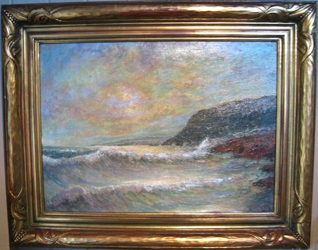Oil Painting Of A Seascape By James Arthur Merriam From