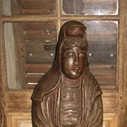 Late Meiji Japanese Pottery Kannon
