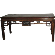 Antique Beech Wood Painting Table from Zhejiang Province