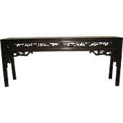 Exquisite Walnut Altar Table With Beautiful Carved Detail