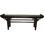 Antique Chinese Elegant carved Walnut Altar Table