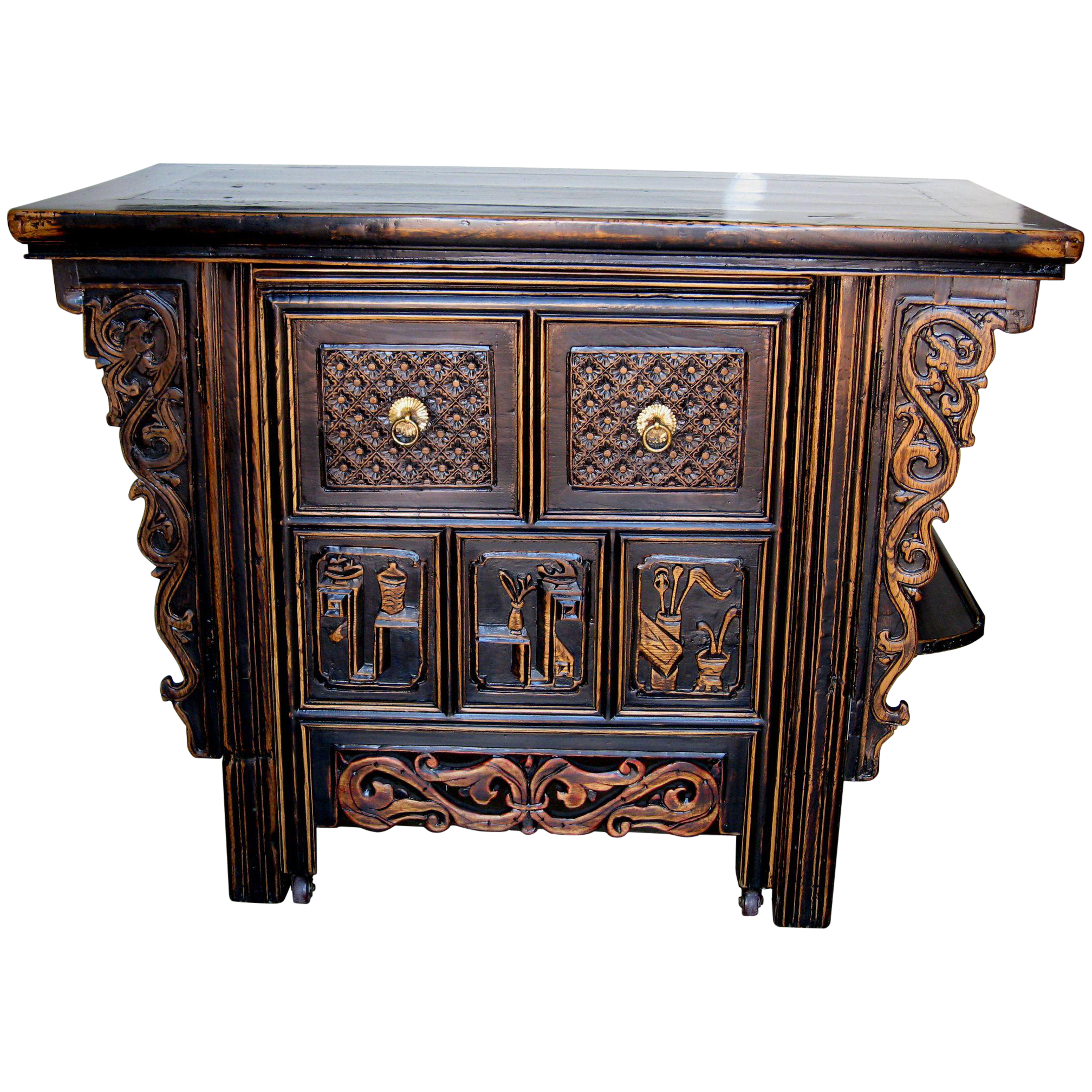 Chinese unique computer desk with hidden chair file drawers dynasty collections antiques ruby lane