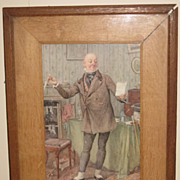 Framed English Print of Gentleman by Frank Reynolds