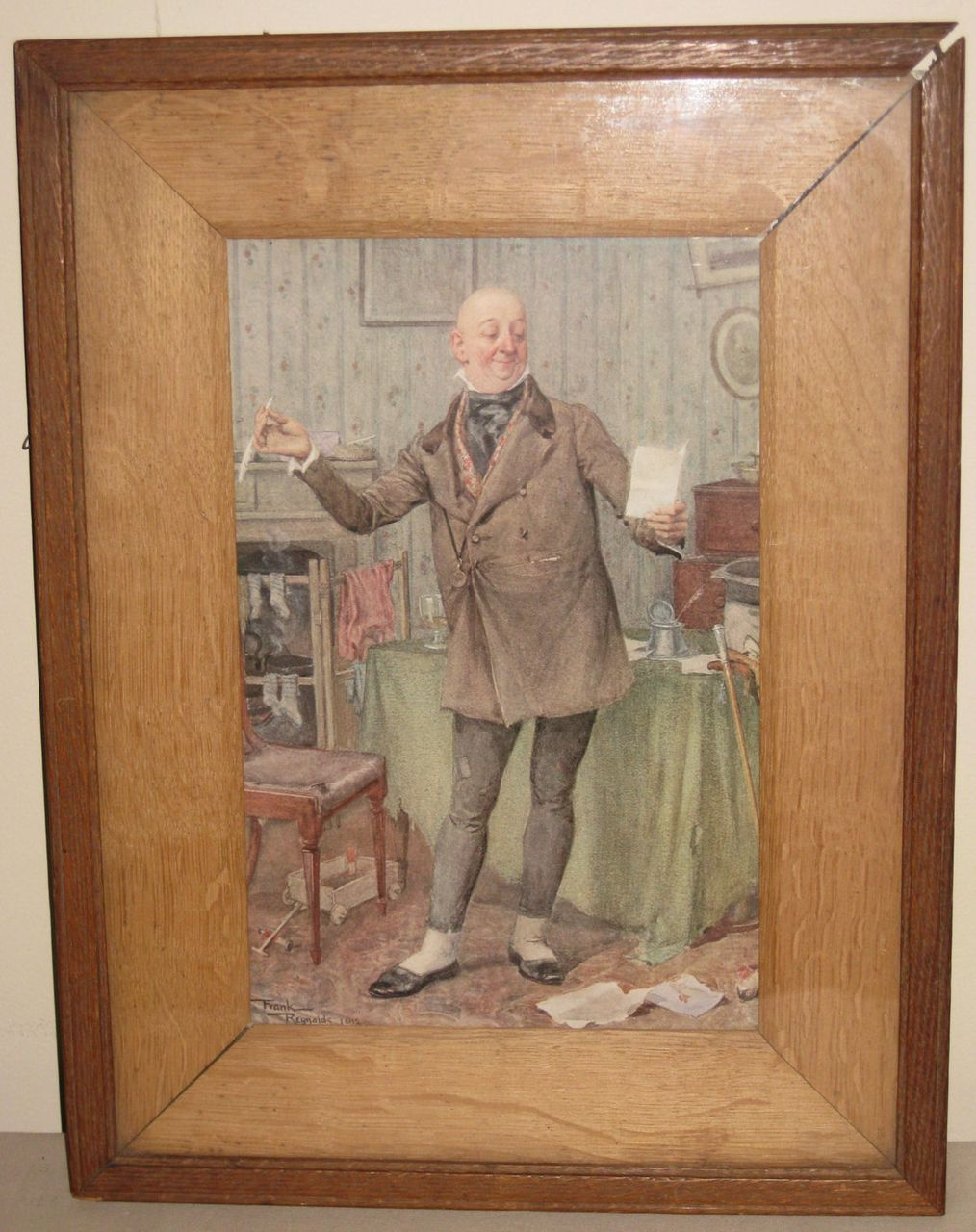 Framed English Print of Gentleman by Frank Reynolds