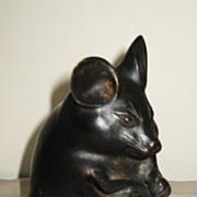 Japanese Bronze Okimono of a Small Mouse