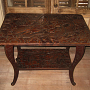 Art Nouveau Style Table with Dragons