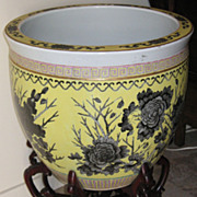 Chinese Large Hand-Painted Fish Bowl