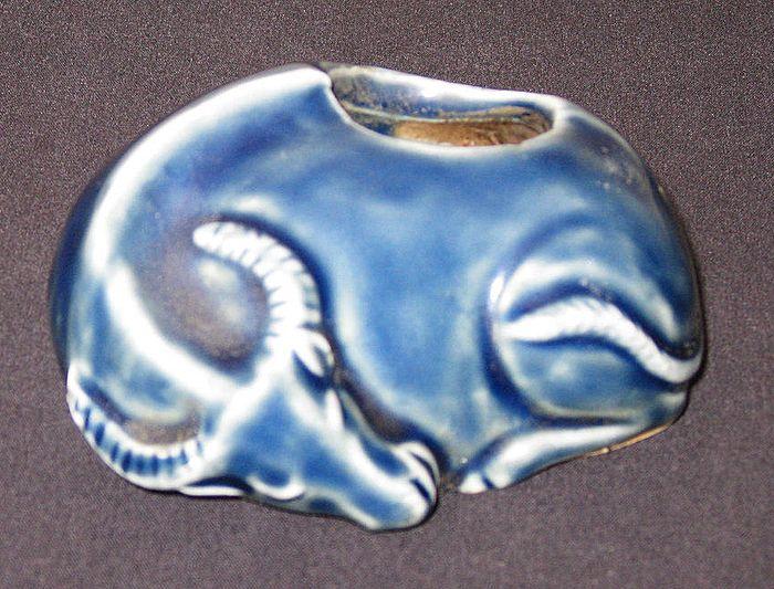 Chinese 18th Century Blue-Glazed Brushwasher