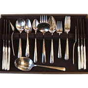 49 Pc Set Oneida Rogers 1950 Brookwood Banbury Service for 6 Plus Extra Teaspoons and Serving Pieces Silverplate Flatware