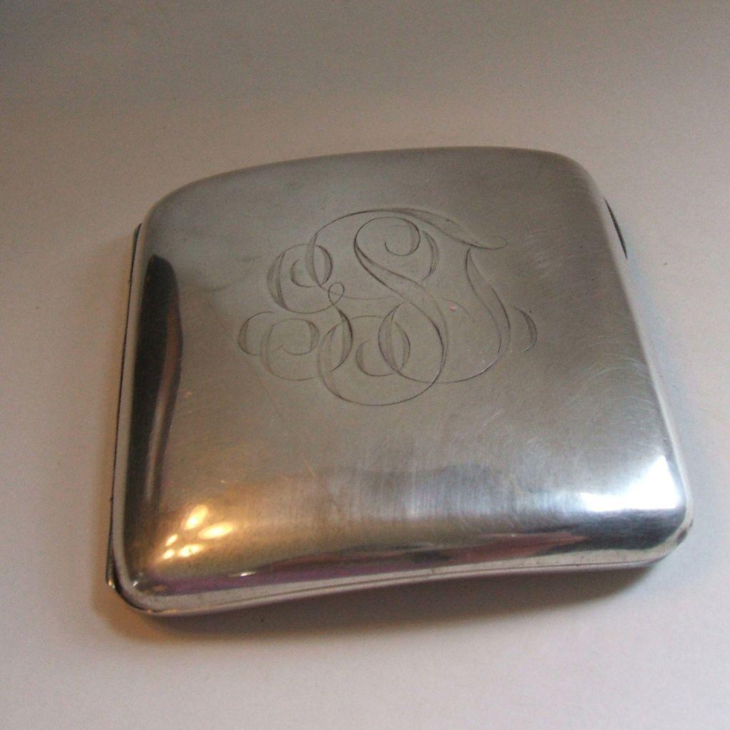 Antique Gorham Sterling Silver Curved Cigarette Case 1900