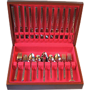 Oneida Rogers Premier Spanada 63 Piece Set Service for 12 Unused in Chest Vintage Stainless Steel Flatware