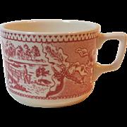 Royal China USA Memory Lane Large Coffee Hot Chocolate Mug 2.75 Inch Red Pink Dinnerware