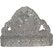 Hofbauer The Byrdes Collection Clear Lead Crystal Napkin Holder Germany