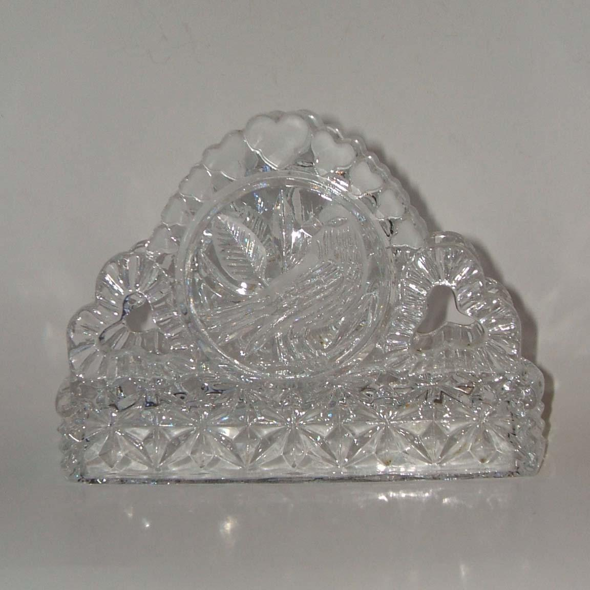 Hofbauer The Byrdes Collection Clear Lead Crystal Napkin