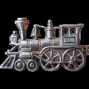 Vintage Beau Sterling Silver Locomotive Train Railroad Pin Brooch Signed B-STER
