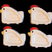 Set 4 Vintage Chicken Tea Bag Holder Strainers 1983 Ron Gordon Designs